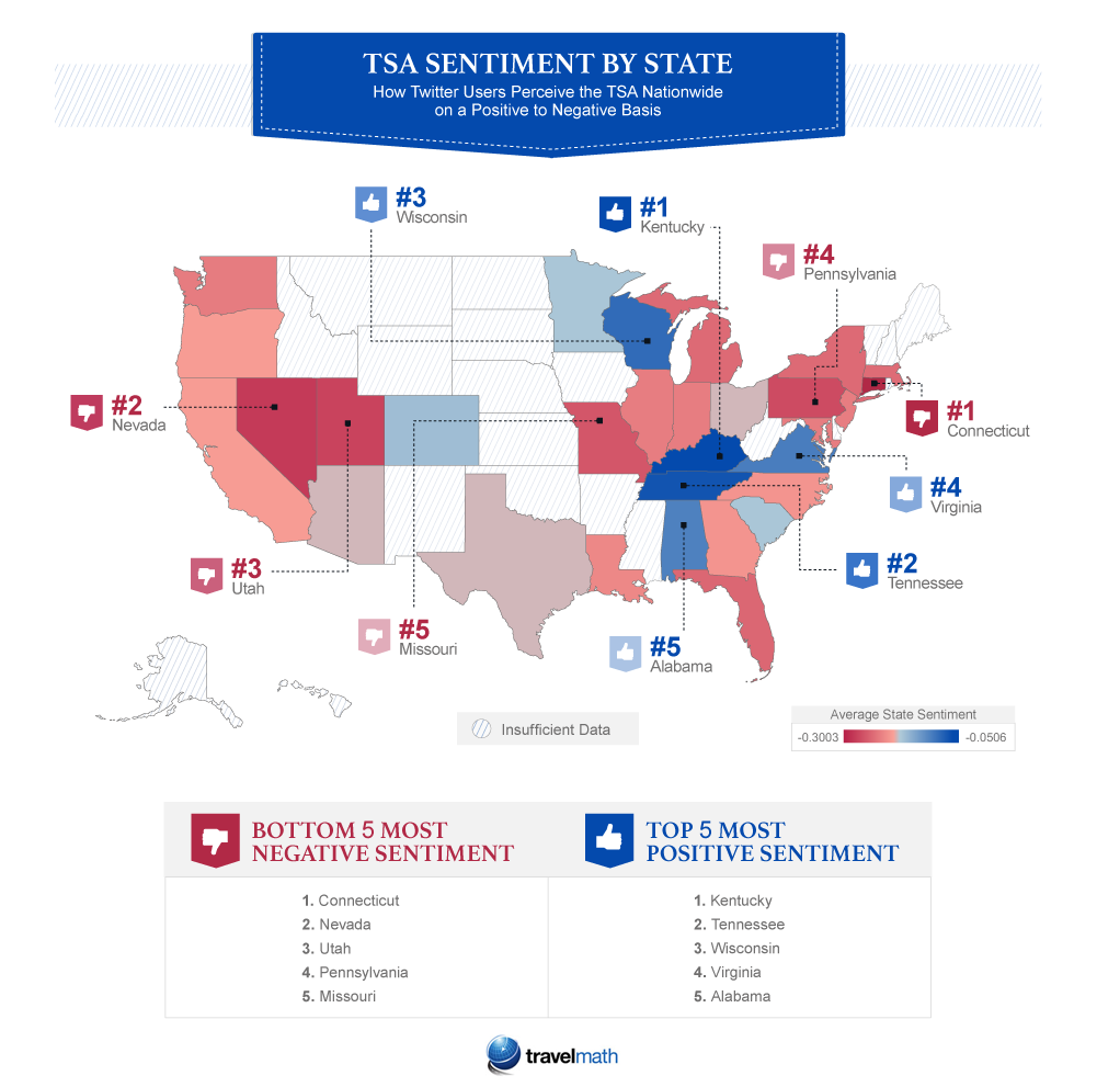 TSA sentiment by state