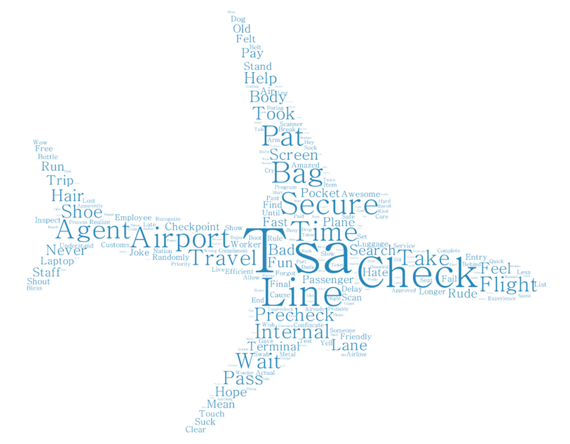 TSA word cloud